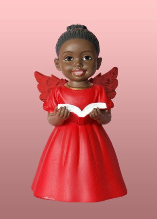 Cherub Angel - Singing Praise in red - figurine