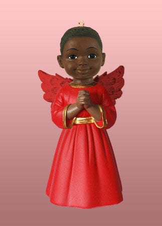 Angel Ornament-Figurine - Prayer boy in red