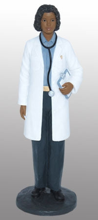 African American Female Doctor - figurine