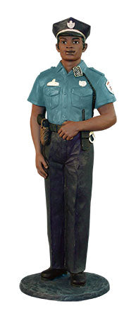 African American Policeman - figurine