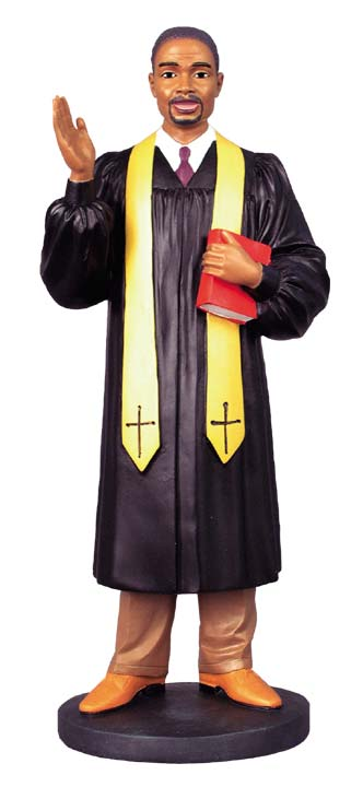 Young African American Preacher - figurine