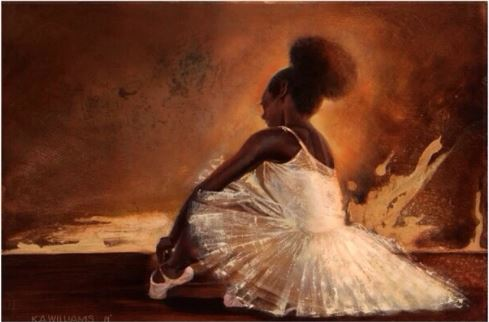 Ballerina Noir - 18x24 - giclee on canvas - WAK