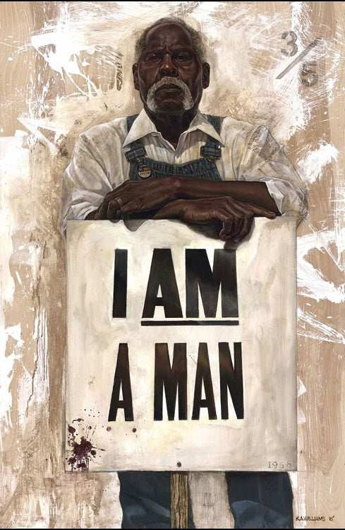 I Am A Man - 36x54 giclee on canvas - WAK