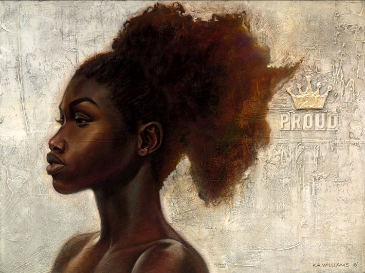 Proud Africa - 30x40 - giclee on canvas - WAK