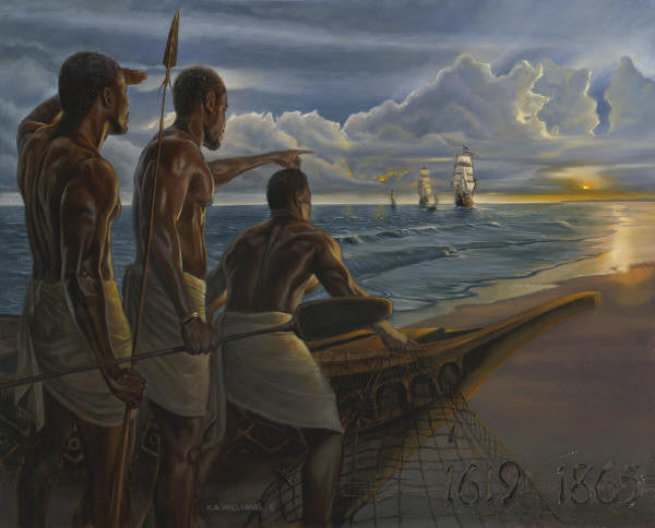 The Fishermen - 30x40 limited edition on canvas - WAK