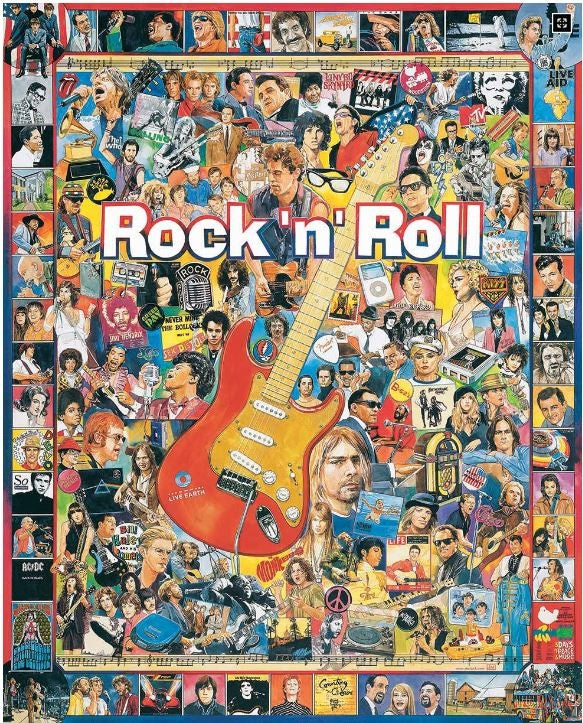 Rock'n Roll History 1000 piece jigsaw puzzle