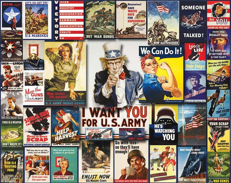 World War II Posters 1000 piece jigsaw puzzle