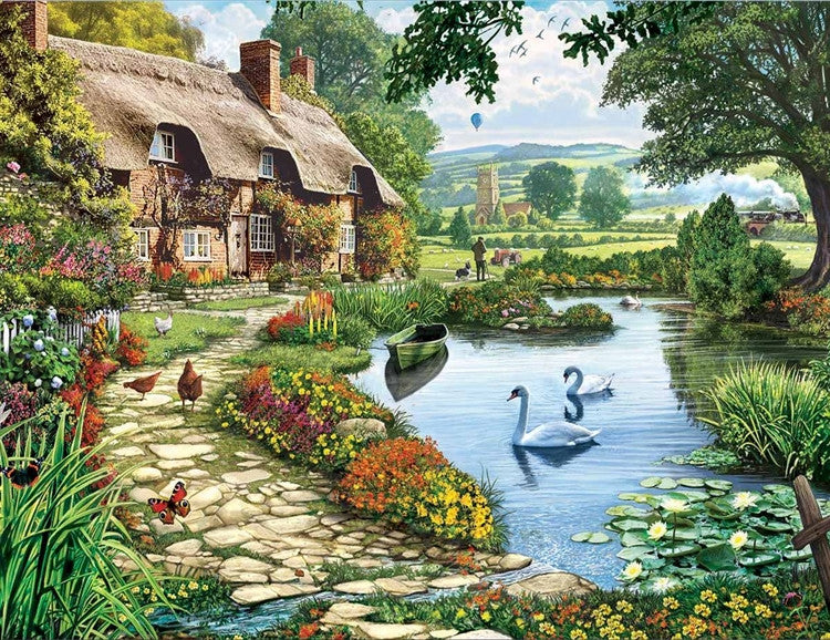 Lakeside Cottage 1000 piece jigsaw puzzle