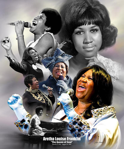 Aretha Franklin - 8x10 mini print - Wishum Gregory