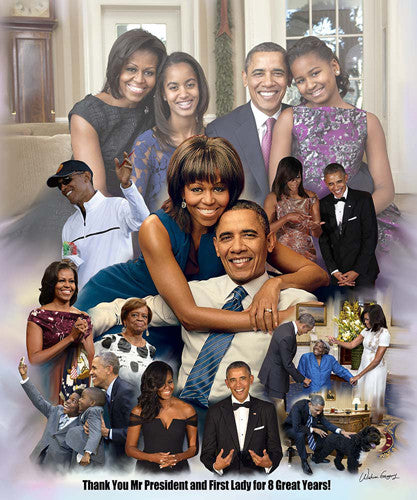 Thank You Mr. President and First Lady - 24x20 - print