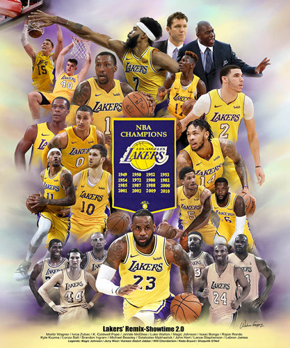 Lakers Remix - Showtime 2.0 - 24x20 - print - W. Gregory