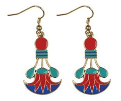 Cleopatra Lotus Earrings