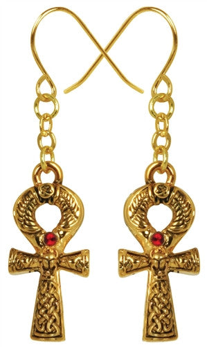 Ankh Earrings with jewel