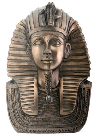 "King Tut - 7"" burial mask with bronze finish"