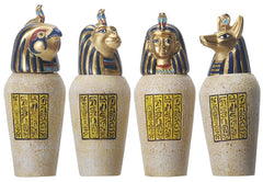 Ancient Egyptian Canopic Jars (set of 4)