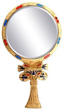 Egyptian Floral Hand Mirror