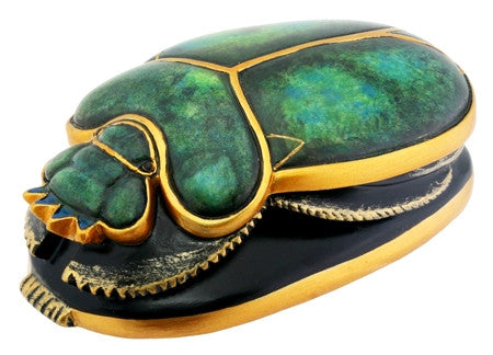 Green and Gold Scarab