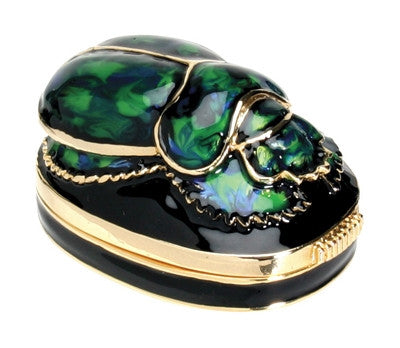 Scarab Jeweled Box green