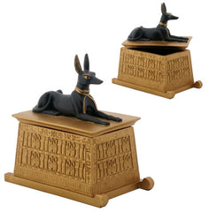 Anubis Dog on pedestal trinket box