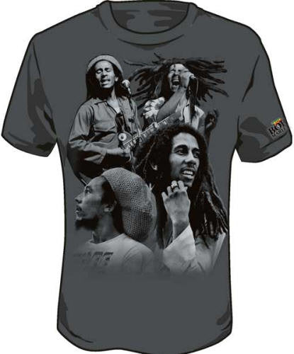 Many Faces - Bob Marley - tshirt