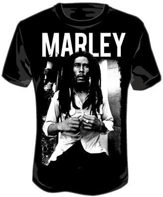 Black and White - Bob Marley - tshirt