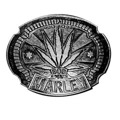 Bob Marley - leaf - belt buckle