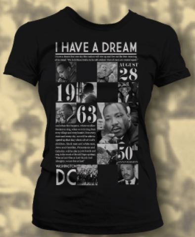 Martin Luther King Jr - 50th Anniversary - female t-shirt