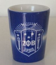 Zeta Phi Beta shot glass