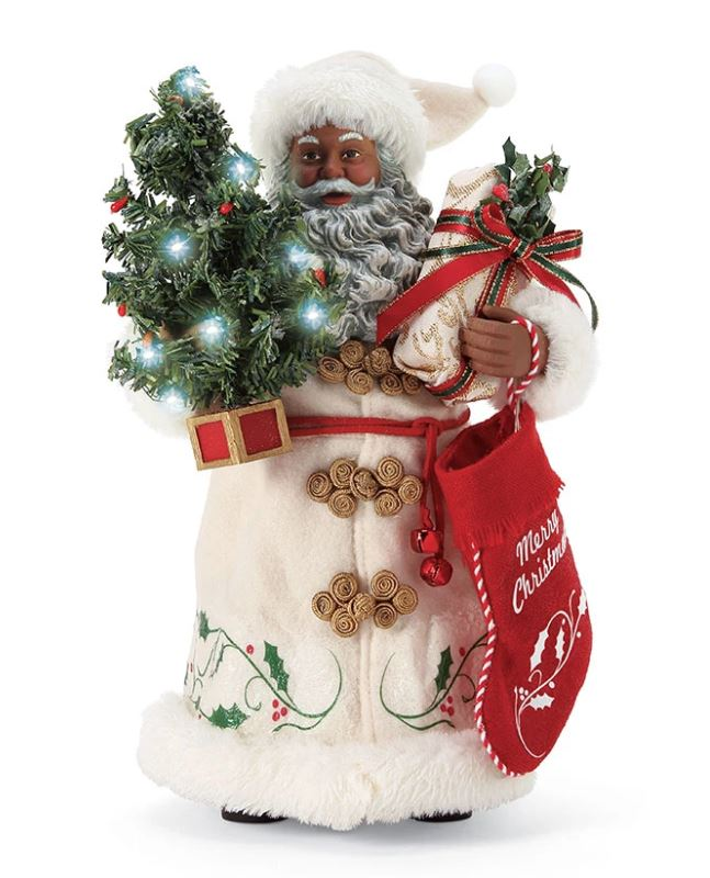A Christmas Tradition - African American Santa figurine
