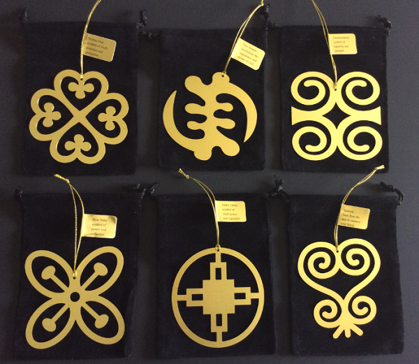 Adinkra Snowflake Ornaments (set of 6)