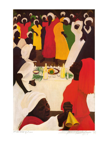 At the Table of Zion - limited edition print - Bernard Hoyes