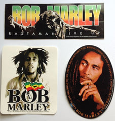 Bob Marley - stickers - set of 3