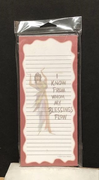 I Know From Whom My Blessing Flow - magnetic notepad