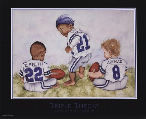 Triple Threat - 22x19 - print - Kenneth Gatewood
