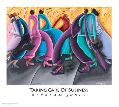 Taking Care of Business - 27x31 - print - Kerream Jones
