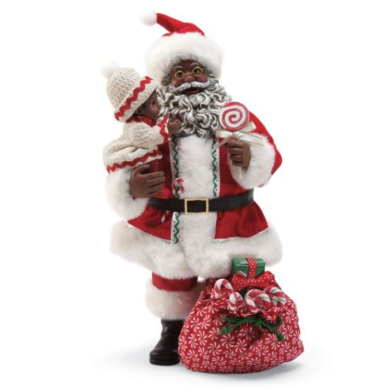 Santa With Lollipop - African American Santa Claus