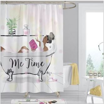 Me Time Shower Curtain It S A Black Thang Com