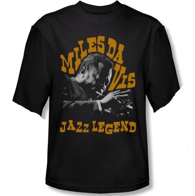 Miles Davis - Jazz Legend - short sleeve t-shirt