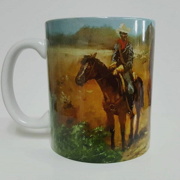 Protecting The Frontier mug - by Ted Ellis