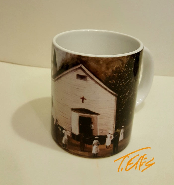 Sunday Worship mug - by Ted Ellis
