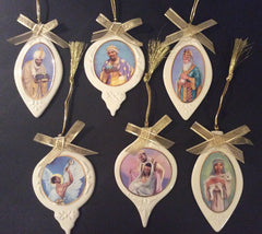 Ebony Visions - Nativity Scene - porcelain ornaments