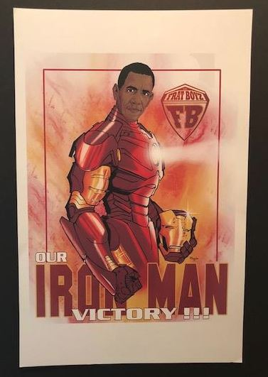 Obama - Our Ironman Victory - 17x11 print
