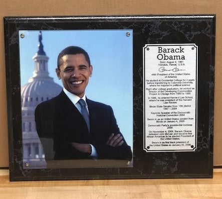 President Obama - wall plaque
