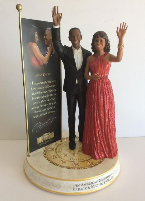 President Obama and First Lady - commemorative sculpture
