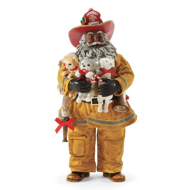 santa to the rescue african american santa claus - African American Outdoor Christmas Decorations