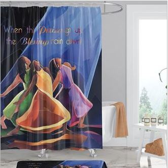 When Praises Go Up - shower curtain