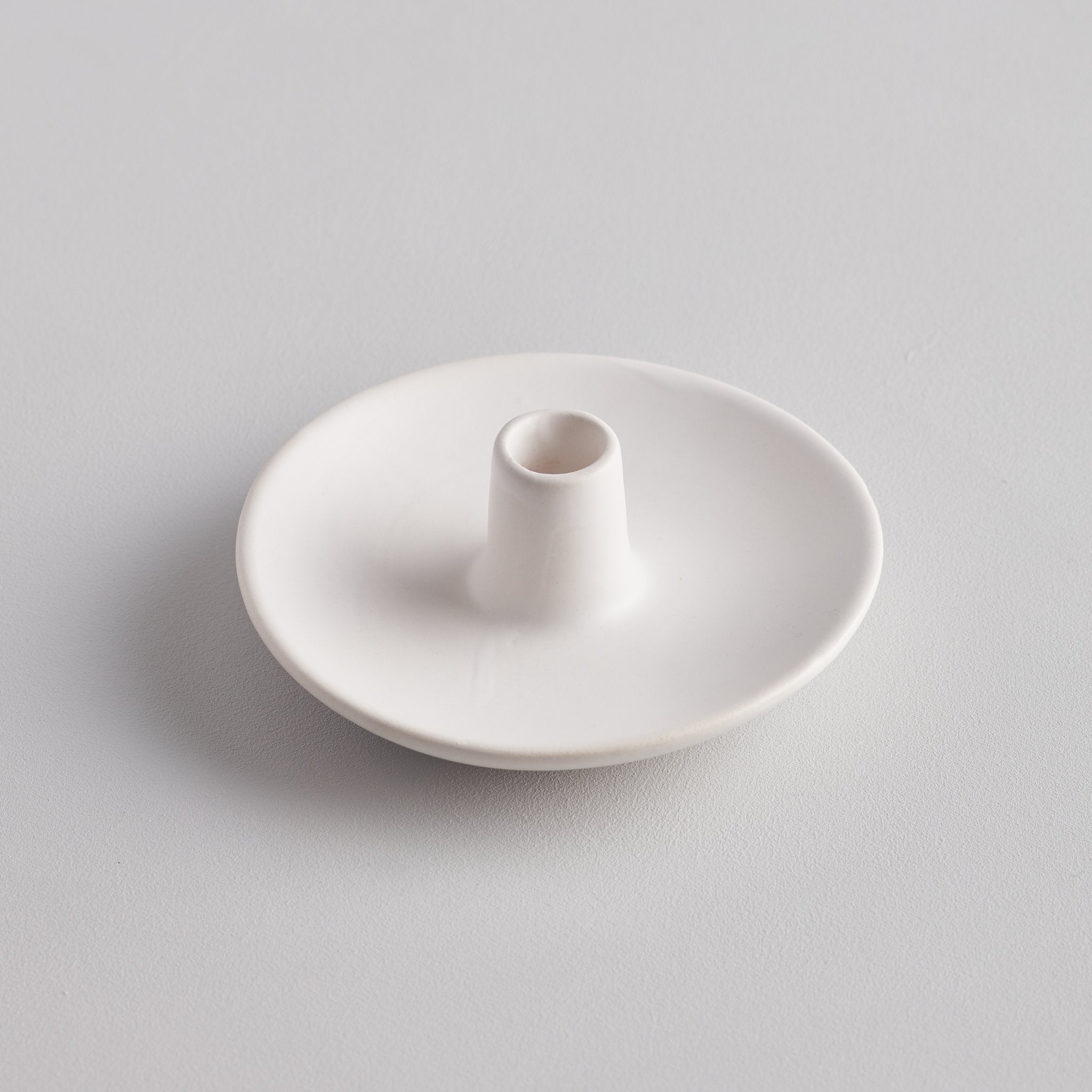 Matte White Thin Candle Holder