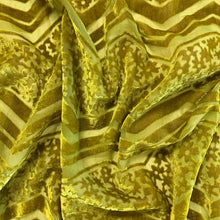 Load image into Gallery viewer, Chevron Floral Burnout - Chartreuse
