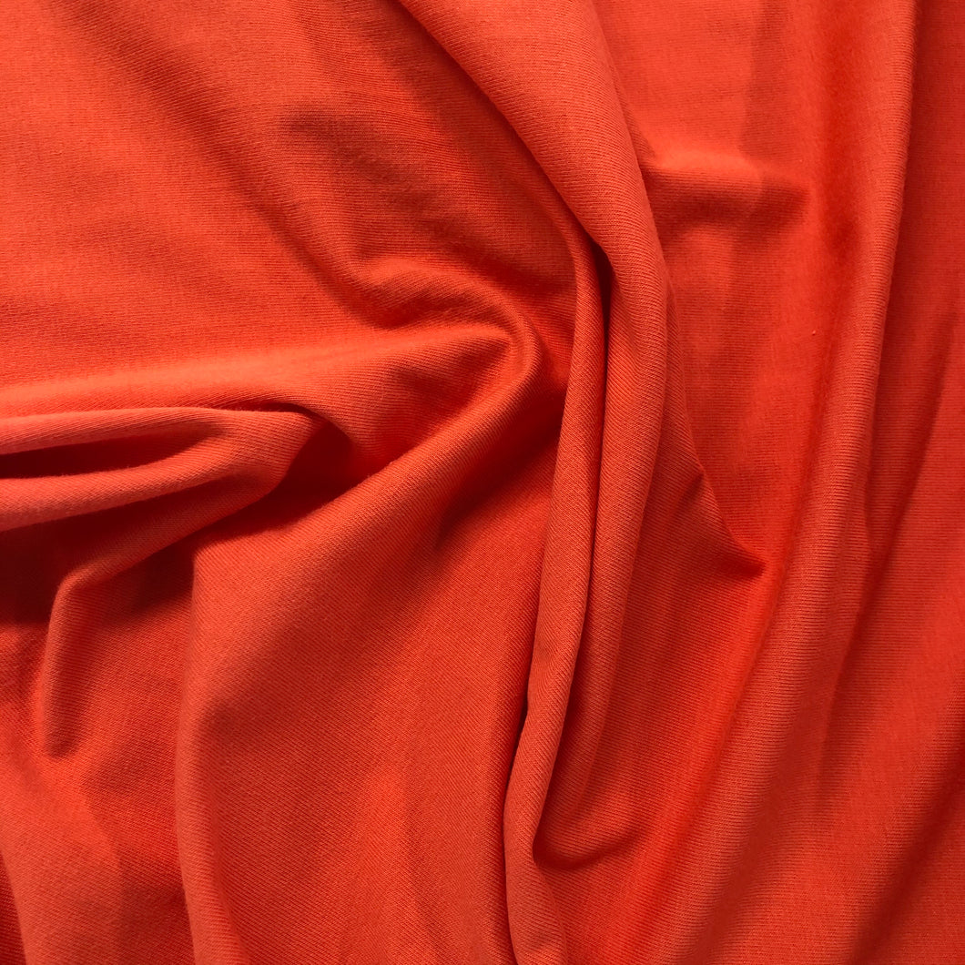 Cotton Spandex T-Shirting - Terracotta