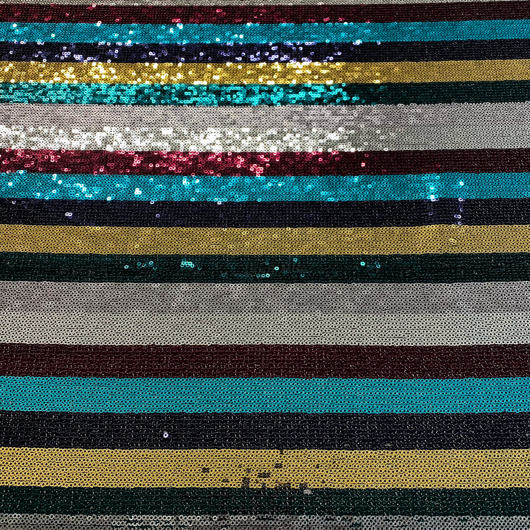 Sequin Stripe - Rainbow